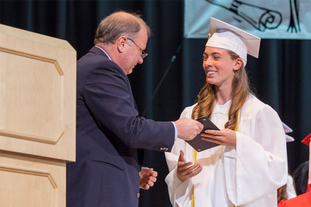 Kaitlyn Kettenbeil receives a $330,000 scholarship to the US Merchant Marine Academy.