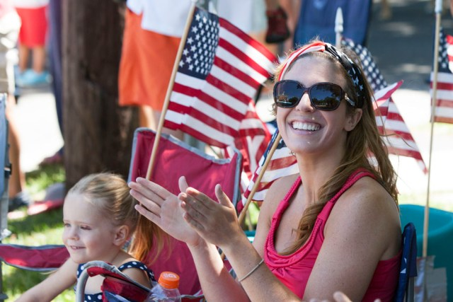After being delayed by rain, the Fourth of July parade in Southold went on Saturday. (Credit: Katharine Schroeder)