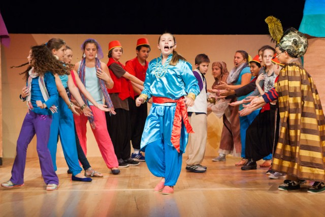 Southold Elementary School students rehearse 'Aladdin Kids.' (Credit: Katharine Schroeder)