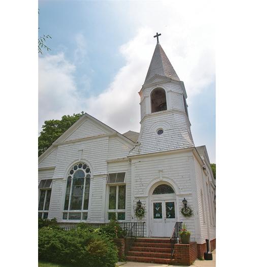 The United Methodist Church building in Southold, built in 1794, went on the market last year. (Credit: Barbaraellen Koch, file)