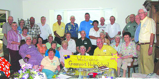 A reunion of Greenport High School alumni, representing classes ranging from 1945 to 1975, gathered recently on Anna Maria Island in Florida.