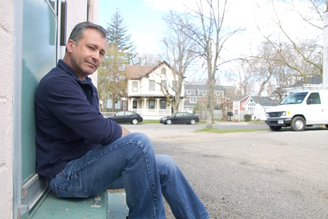 North Fork Smoked Fish Co. owner Phil Karlin outside the business's First Street headquarters. (Credit: Michael White)