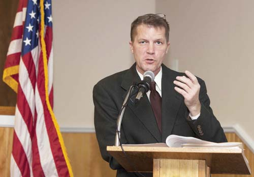 KATHARINE SCHROEDER FILE PHOTO | Southold Town Supervisor Scott Russell unveiled his tentative 2014 budget this week.