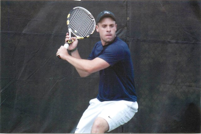 Matt Brisotti, who holds the Drew University (N.J.) record for doubles wins with 64 and ranks fourth with 55 singles wins, now coaches the school's men's and women's teams. (Courtesy photo)