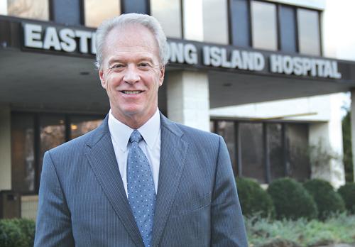 CARRIE MILLER PHOTO     Eastern Long Island Hospital CEO Paul Connor.