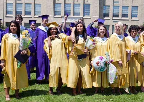 KATHARINE SCHROEDER FILE PHOTO | The Class of 2013 at Greenport High School.