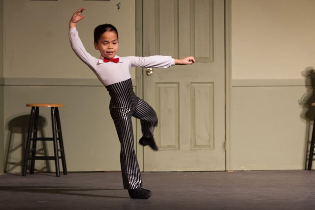 "Peter Gwiazda dances to ""Let it Go"" at North Fork Community Theatre's Variety Show. (Credit: Katharine Schroeder photos)"