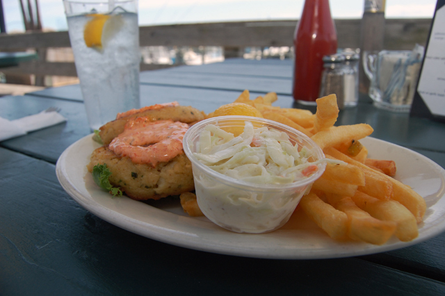 Crab cakes from Orient by the Sea. (Credit: Vera Chinese)