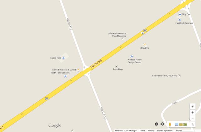 Police say the crash happened just west of Hortons Lane. (Credit: Google Maps)
