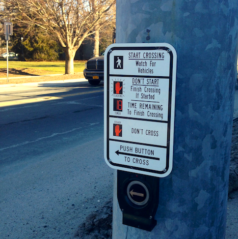 CYNDI MURRAY PHOTO | An audible street signal intended to help the blind cross the street is too loud for neighbors.