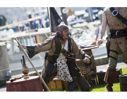 KATHARINE SCHROEDER PHOTOS | A performance by a troupe of pirates was one of the highlights of the first day of Greenport's Maritime Festival.