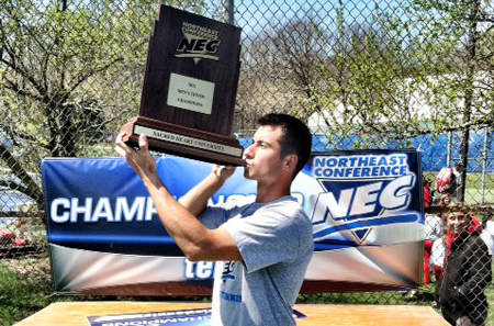 COURTESY PHOTO  |  Chris Ujkic of Mattituck helped lead Sacred Heart University to the Northeast Conference Championship and into the NCAA Championship.