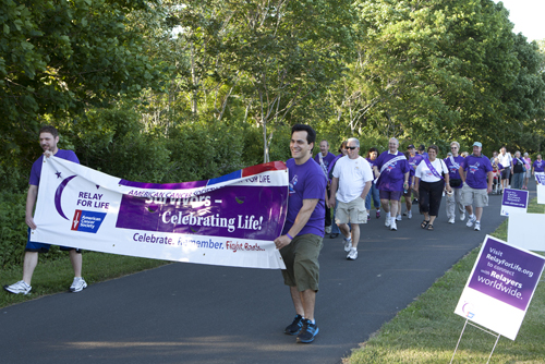 KATHARINE SCHROEDER PHOTO | The Southold Relay for Life, benefitting the American Cancer Society, was held in Peconic Saturday.