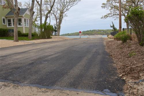 Island View Road was repaired this week. (Credit: Barbaraellen Koch)