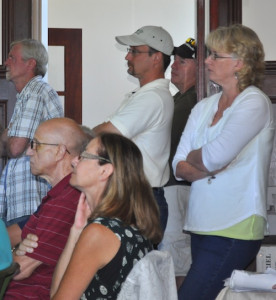 CYNDI MURRAY PHOTO | It was standing room only as resident hear engineering firm eDesign Dynamics presented its suggestions.