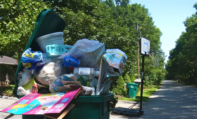 State officials hope the truck/rail operation will reduce the potential for residential trash not being picked up. (Credit: Barbaraellen Koch)