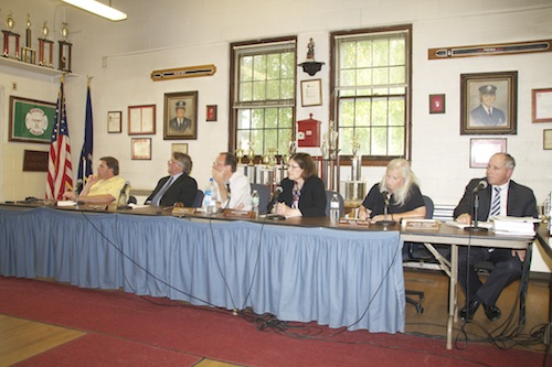 The village board approved the correctly notice wetlands permit for Widows Hole oyster farm Monday. (Cyndi Murray photo)