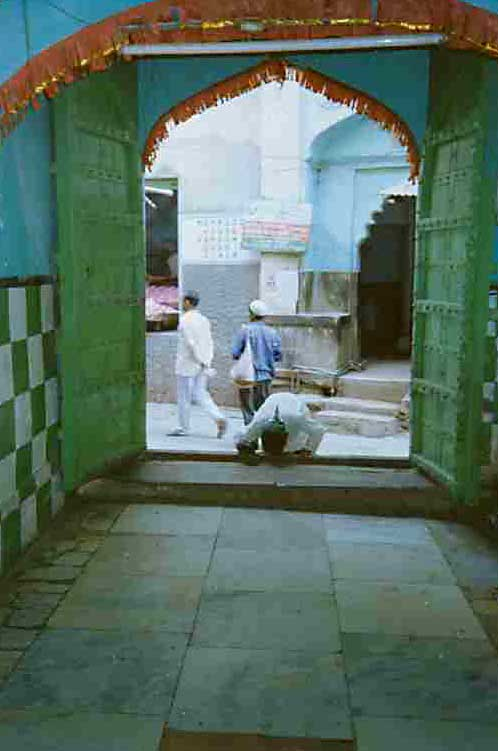A gate to the dargah of Khwaja Mo'inuddin Chishti, Ajmer