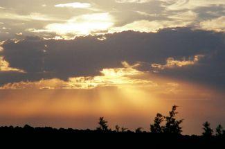 sun behind clouds 1