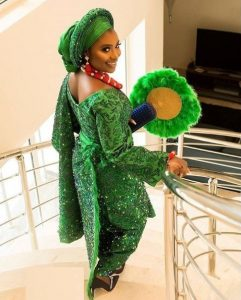 unique ankara lace gown with wrapper style for young ladies, traditional wedding fashion