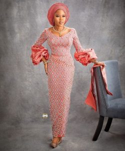 classy ankara stone lace blouse and wrapper style with auto gele head wrap