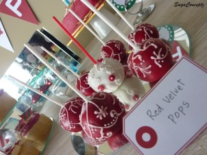 Red and White Christmas Cake Pops