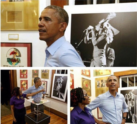 President of the United States of America, Barack Obama makes unannounced visit to the Bob Marley Museum last night