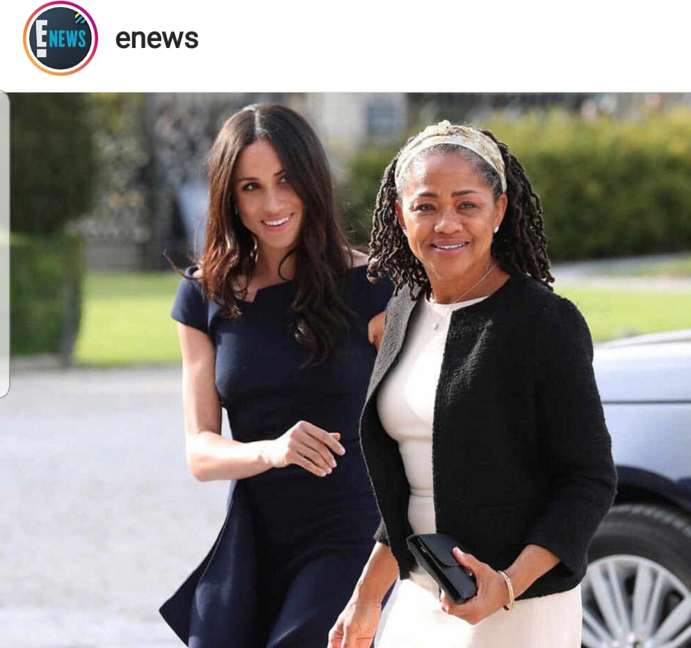 Meghan Markle's mother, Doria met Queen Elizabeth II for afternoon tea today, the day before the #RoyalWedding