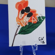 'Mi Ackee' Acrylic on Canvas Tabletop/Desktop