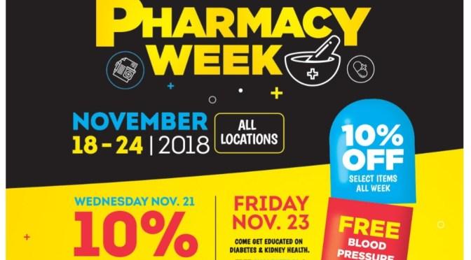 It's Pharmacy Week and Fontana has a SALE and FREE Health Checks!