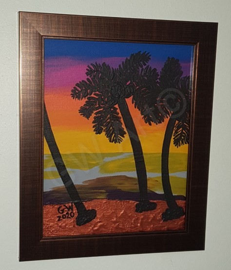 GW Art ISLAND SET Framed (19×24)cm painting -Hangs