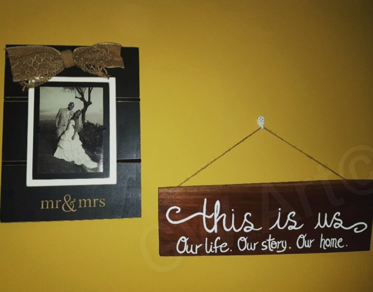 "'THIS IS US' ~(18.5×6)"" Decorative Wooden piece- Hangs PRICE: $5500JMD"