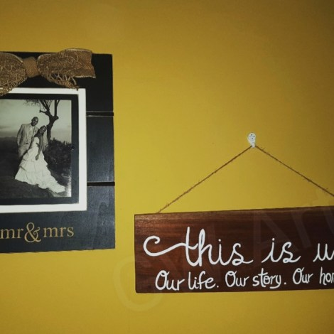 """'THIS IS US' ~(18.5×6)"""" Decorative Wooden piece- Hangs PRICE: $5500JMD"""