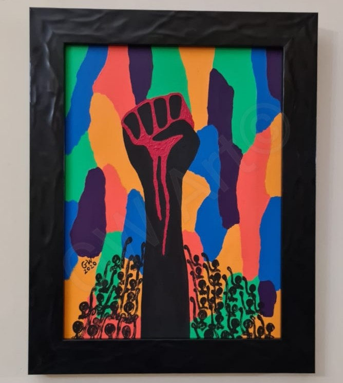 "Tribute to #BlackLivesMatter Acrylic on (12×16)"" Canvas"