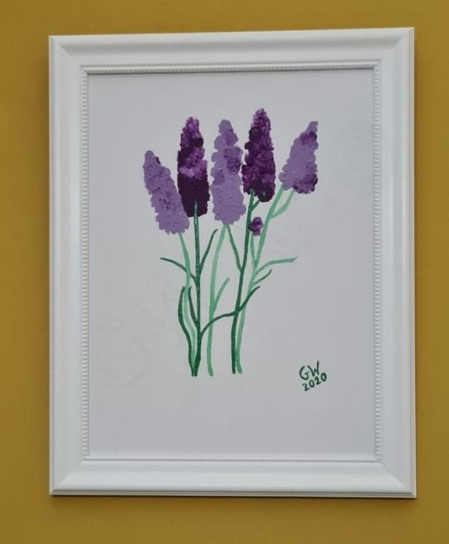 """Acrylic on Framed (12×16)"""" Canvas"""