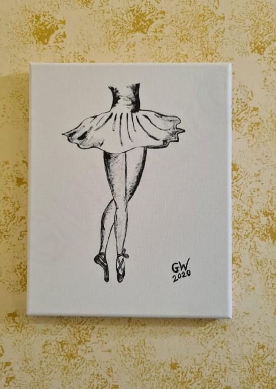 """Acrylic on (9×12)"""" Canvas"""