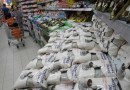 Bags of white sugar are displayed in a supermarket in Jakarta. (Reuters)