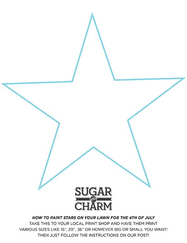 sugarandcharm_lawnstarshape