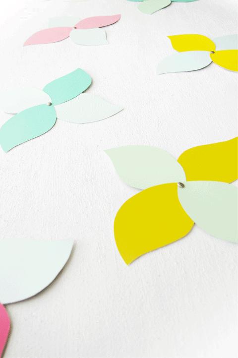 paint swatch paper flowers