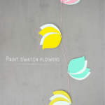 DIY // Paint Swatch Flowers