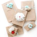 DIY Pom Pom Gift Wrap Ideas