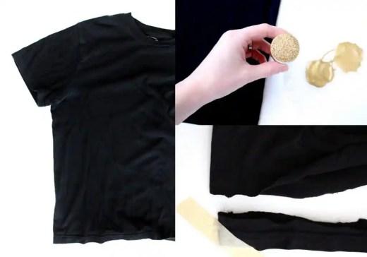 DIY no sew polka dot infinity scarf