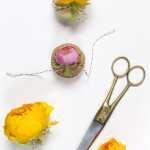 DIY Flower Topped Macaron Favors