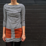 DIY Leather Pocketed Dress