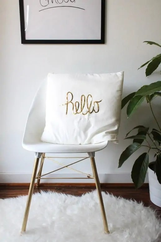 DIY Sequined Hello Pillow and Ikea event recap - Sugar & Cloth - Houston Blogger