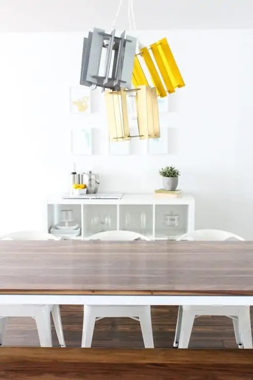 DIY recycled cardboard pendant light by Sugar & Cloth - Houston Blogger - Home Decor - Entertaining