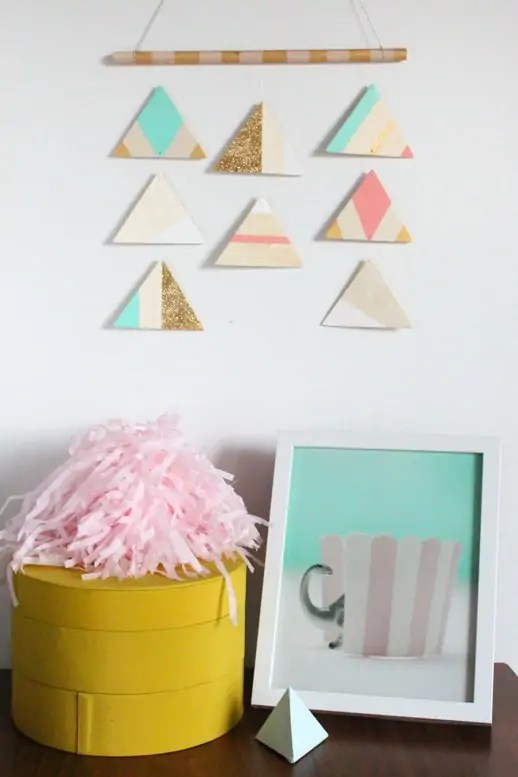 DIY Hanging Mobile and a surprise baby shower - Sugar & Cloth - Entertaining - Houston Blogger