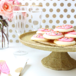 DIY Glittered Decoupage Cake Stand and Settings
