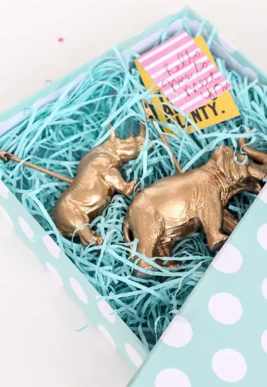 DIY Animal Memo Holder Gifts - Sugar & Cloth - Holiday - Gift - Houston Blogger