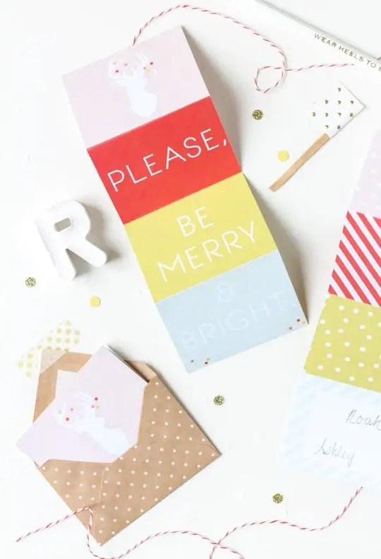 DIY Printable accordion gift tags - Sugar & Cloth - DIY